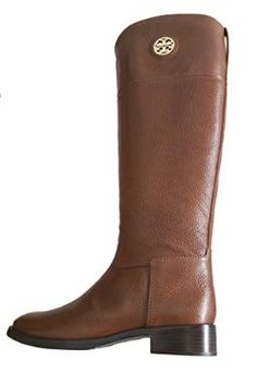 Tory Burch Junction Riding leather Boot in Almond Size 7.5   Amazon.com