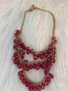 Red Gold Tone Triple Strand Bib Necklace | Jewelry & Watches, Fashion Jewelry, Necklaces & Pendants | eBay!