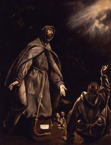 El Greco. San Francisco en éxtasis.