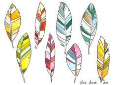 Items similar to Colorful Feathers Geometric Modern Art Original Watercolor Painting Room Decor Wall Art on Etsy Feather Clip Art, Colorful Feathers, Art Moderne, Wall Art Decor, Room Decor, Art Club, Watercolor Paintings, Modern Art, Glass Art