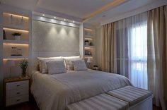 Luxury Home Decoration Ideas Hotel Room Design, Master Bedroom Design, Home Decor Bedroom, Modern Bedroom, Double Bedroom, Master Room, Bedroom Built Ins, Suites, Home Fashion