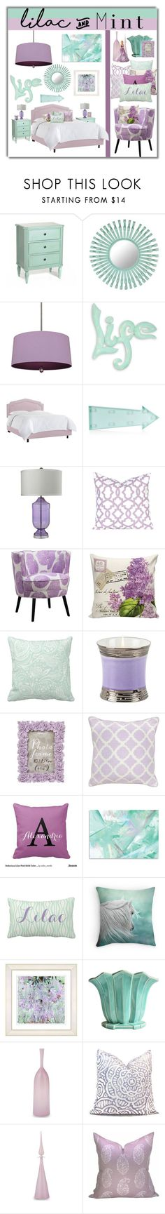 """""""Lilac and Mint"""" by joyce-williams ❤ liked on Polyvore featuring interior, interiors, interior design, home, home decor, interior decorating, Florence Broadhurst, Williamsburg, NOVICA and New Look"""