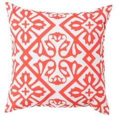 Surya Rain Coral Ornate Indoor/Outdoor Decorative Pillow @LaylaGrayce