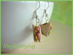 Sandwich hook earrings now on ItsybitsyIsy https://www.etsy.com/listing/154530507/sandwich-earrings?ref=shop_home_active