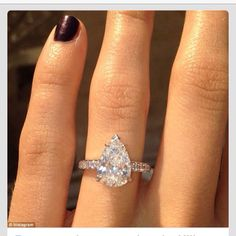 Perfect. Teardrop. Engagement ring.