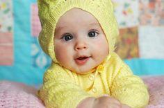 Saquito con gorro para bebé crochet | Crochet y Dos agujas