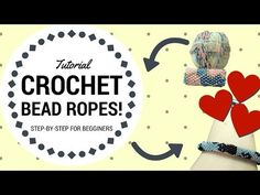 HOW TO: Crochet bead ropes for begginers! Easy step by step tutorial - YouTube