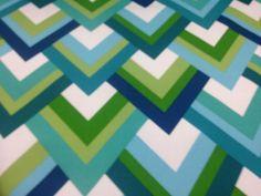 NEW Furniture Fabric by the YARD- 27 Designs Bright Blues & Greens Geometric