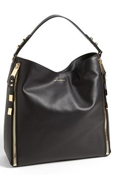 3d0514e1863a Michael Kors  Miranda - Zips  Leather Hobo available at  Nordstrom Michael  Kors Black