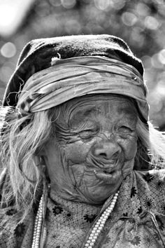Old woman...tell me what is on your mind...oh my...so cute...what did she look like eh when she was young? Before and after picture would BE SO COOL:)<3
