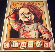 Chucky Tattoo Art Print by ParlorTattooPrints on Etsy, $28.00