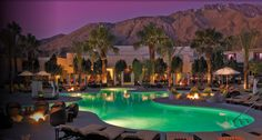 Riviera Palm Springs Resort & Spa - Crazy in love with this hotel in the Hollywood Regency style...