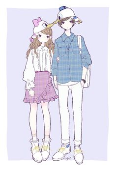 Twitter Anime Outfits, Disney Outfits, Anime Chibi, Manga Anime, Anime Couples, Cute Couples, Chibi Girl, Anime Love Couple, Character Art