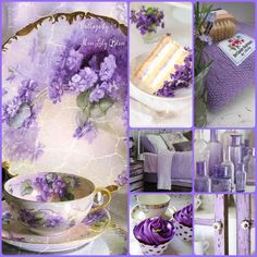 Collage by Miss Lily Bliss Purple Lilac, Shades Of Purple, Purple Flowers, Pot Pourri, Color Collage, Beautiful Collage, All Things Purple, Decoupage, Color Stories