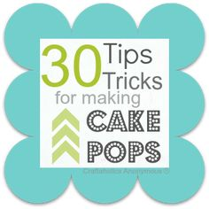Awesome post on how to make cake pops!  great ideas and tricks!