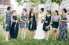 31 Real-Life Bridal Parties Who Nailed The Mix 'N' Match Look  These are all so awesome!
