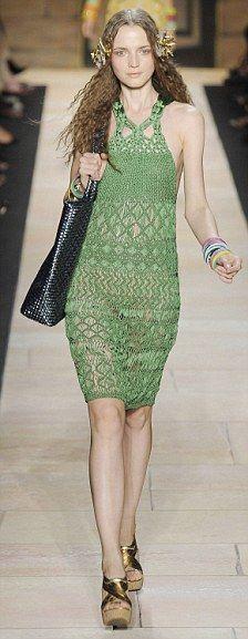 Crochet on the catwalk