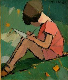 Frédéric Fiebig Love the simple block style of painting. Figure Painting, Figure Drawing, Painting & Drawing, Art Et Illustration, Art Design, Oeuvre D'art, Figurative Art, Painting Inspiration, Art Images
