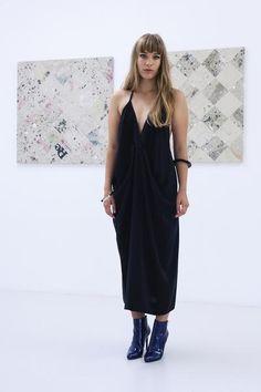 Miss Crabb Nirvana Dress - Black Calf Length Dress, Silk Crepe, Clothing Company, Sustainable Fashion, Beautiful Outfits, Diamond Cuts, Pure Products, Elegant, My Style