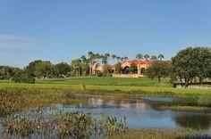 View of clubhouse at TPC Prestancia, Sarasota, FL #playgolfsarasota
