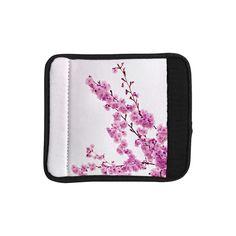 Kess InHouse Monika Strigel 'Cherry Sakura' Floral Luggage Handle Wrap