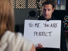PERFECT - from one of my all-time favorite movies, Love Actually.  And, yes, that's Andrew Lincoln, aka Rick, from The Walking Dead. Sweet!