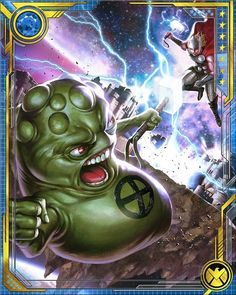 The common thinking is that 'Professor' Doop is just too crazy and dangerous to be allowed in the outside world. Yeah, that's our guess too! Marvel Cards, Marvel 3, Marvel Universe, Superhero Villains, Loki Thor, X Men, Comic Art, Geek Stuff, War