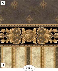 Wallpaper - Medallion - Black