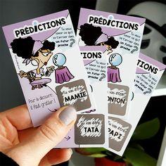 Ticket à gratter « Prédictions » : une idée d'annonce grossesse originale! Une idée marrante pour présenter bébé à la future mamie, tata ou encore au futur papi et tonton !