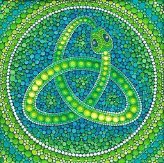 Verde Ouroboros Celtic Serpiente de Elspeth McLean