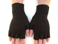 Items similar to Black Hand Knit Half-Finger Gloves. on Etsy Wrist Warmers, Hand Warmers, Texting Gloves, Fingerless Gloves Knitted, Hand Care, Crochet Flowers, Hand Knitting, Perfect Fit, Hands