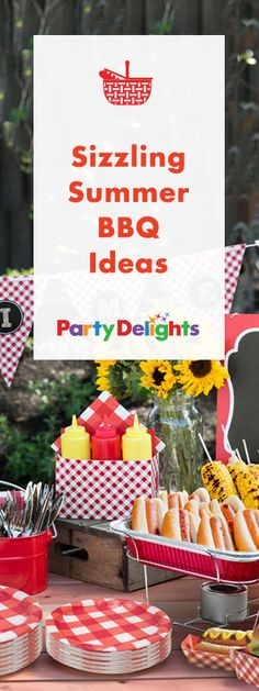 Plan the summer party of the season with our sizzling summer barbecue ideas! Perfect for a garden party, picnic party or any other summer celebration. Find barbecue food ideas, decorating ideas and more.