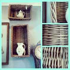 great old rectangular baskets  Scarlett Scales Antiques - Franklin, Tennessee Hip Antique Boutique