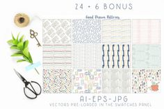 Hand Drawn Seamless Patterns Papers Vol. 1 By Studio Julie Ann