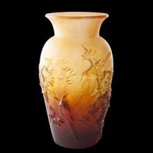 Daum Crystal Autumn Vase Amber  05294-3
