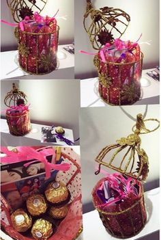 #amazing offer #glitter cage with #16pictures #a box of Ferrero rocher # 5 love notes #just @ 1349 #free chocolates 😍 what else you want in 1349 💃#limited offer #can be customise