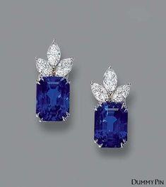 Sapphire Earrings, Pink Sapphire, Women's Earrings, Yellow Diamonds, Solitaire Earrings, Sapphire Jewelry, Flower Earrings, Designer Earrings, Diamond Jewelry
