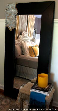 DIY Mirror Frame - Rough Cut Quartz Mirror Frames I like the mirror & the headboard Do It Yourself Furniture, Diy Furniture, Home Decor Mirrors, Diy Home Decor, Wall Decor, Wall Art, Homemade Mirrors, Diy Y Manualidades, Diy Mirror