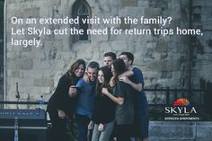 Stay connected with your Family. SkylaServicedApartment offers a peaceful living environment for corporate travelers on long duration projects.