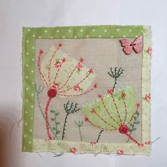 Free Motion Embroidery, Machine Embroidery Applique, Diy Embroidery, Motifs Applique Laine, Applique Designs, Fabric Cards, Fabric Postcards, Fabric Journals, Cat Quilt