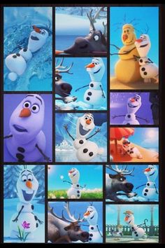 Images that capture the many expressions of Olaf. #Frozen