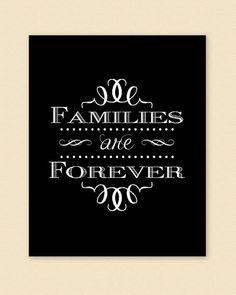 PRINTABLE Families are Forever PDF digital by LoveBergDesigns