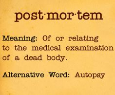 Post mortem meaning