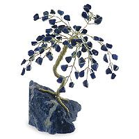 Gemstone tree, 'Sodalite Intuition' (small) by NOVICA