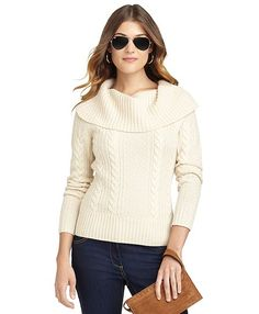 Cable Cowl Neck Sweater - Brooks Brothers  So classic and timeless.  A true investment piece - and so typical of my look.  **sigh**   Will I ever shake things up?