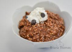 'Chocolate pudding' overnight oatmeal - Briana Thomas