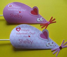 Mouse Valentine Card