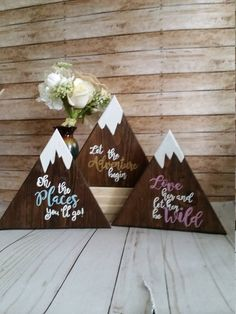 Wooden signs, adventure signs, let the aventure begin, love her and let her be wild, nursery decor - Modern Modern Nursery Decor, Nursery Themes, Room Themes, Nursery Signs, Woodsy Nursery, Camping Nursery, Nursery Letters, Themed Nursery, Nursery Neutral