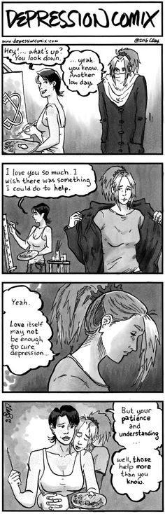 depression comix #318 It's true, I'm so lucky to have my boyfriend supporting me.