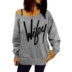 Sexy Letter Printed Slash Neck Pullover Sweatshirt For Women (GRAY,XL) in Sweatshirts & Hoodies | DressLily.com